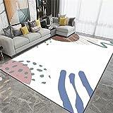 Alfombra De Juegos Niños Blanco Alfombra Silla Gaming Color cálido luz de Lujo decoración de Interiores Sala de Estar Dormitorio Alfombra para Correr alfombras recibidor 200X300CM