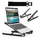 G-Color Laptop Stand/Soporte/Stand Portátil y Ergonómico para Laptop, Plegable y Ajustable Soporte para Computadora/Ordenador Portátil, iPad-Negro