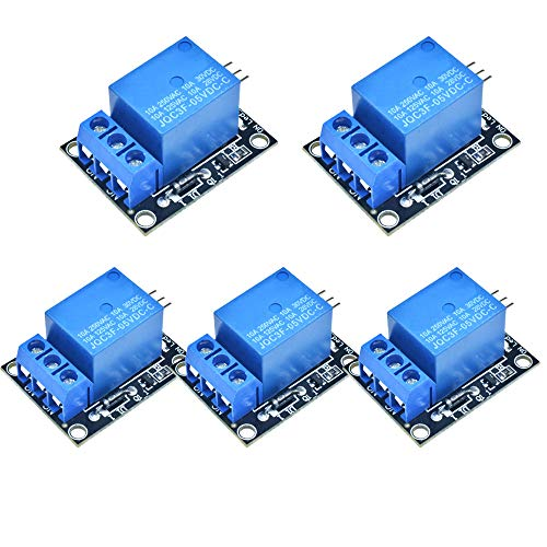 diymore 5 PCS KY-019 5V One Channel Relay Module Board Shield For PIC AVR DSP ARM for Arduino