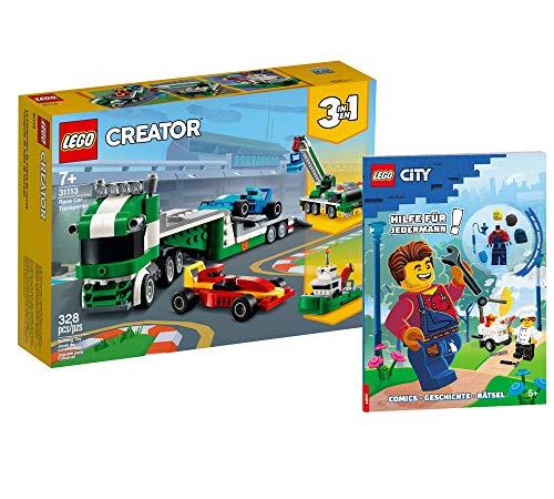 Collectix Lego 31113 - Juego de transporte de coches de carreras Lego Creator (incluye funda blanda)