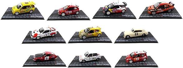 Générique Set of 10 Rally Cars WRC 1/43 Ixo: VW FIAT Toyota Renault Citroen Mitsubishi Suzuki Lancia Datsun (Lot1)
