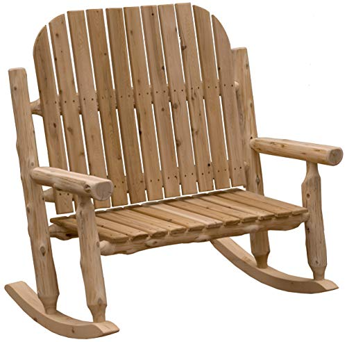 Fireside Lodge Furniture Adirondack Rocking Chair Natural