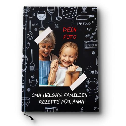 Rezeptbuch, Kochbuch selber schreiben, mit deinem Bild auf dem Cover! 46 Rezepte, 17x24 cm