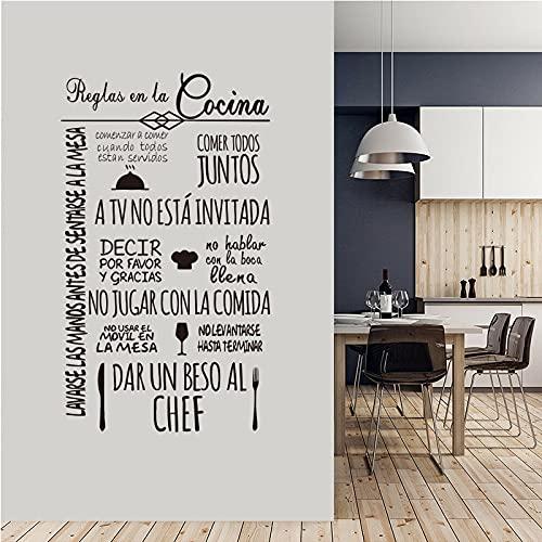 Adesivi murali in vinile frasi cucina decalcomanie della parete di casa arte carta da parati cucina adesivi decorazione della casa murale decalcomanie di arte A1 55x95 cm