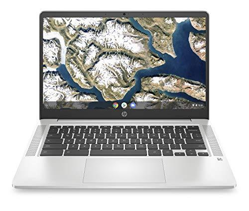 HP - PC Chromebook 14a-na0006nl, Intel Pentium Silver N5000, RAM 8 GB, eMMC 128 GB, Sistema Operativo Chrome OS, Google Play Store, Schermo FHD 14