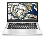 HP Chromebook 14-inch HD Laptop, Intel Celeron N4000, 4 GB RAM, 32 GB eMMC, Chrome (14a-na0010nr,...