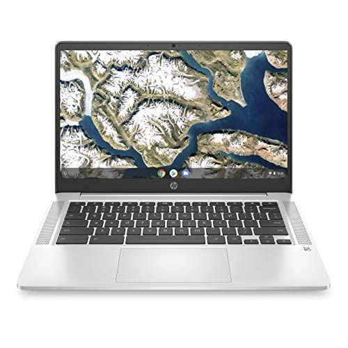HP - PC Chromebook 14a-na0003nl, Intel Celeron N4000, RAM 4 GB, eMMC 64 GB, Sistema Operativo Chrome OS, Google Play Store, Schermo FHD 14