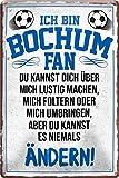 Blechschilder ICH BIN Bochum Fan Metallschild für Fußball