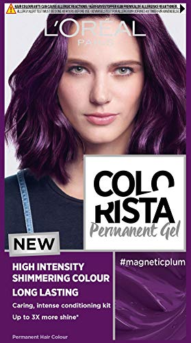 L Oréal Paris Colorista Permanent Gel Hair Dye, Long-Lasting and Vibrant At-Home Hair Colour, High-Intensity Hues with Up to 3x More Shine, Colour: Magnetic Plum