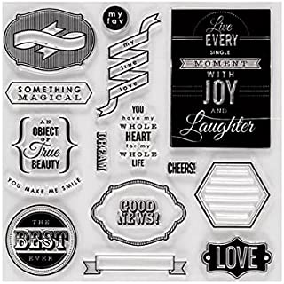 """Fiskars Clear Stamps 8""""X8"""" -Special Sentiments"""