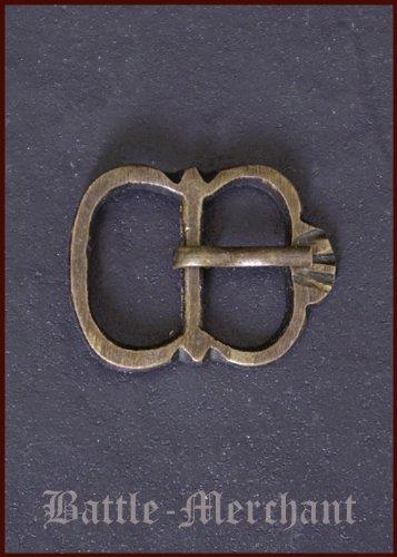 Battle Merchant Tarde Medieval Hebilla de latón, nº 8–Correa Ancho: hasta Aprox. 19Mm
