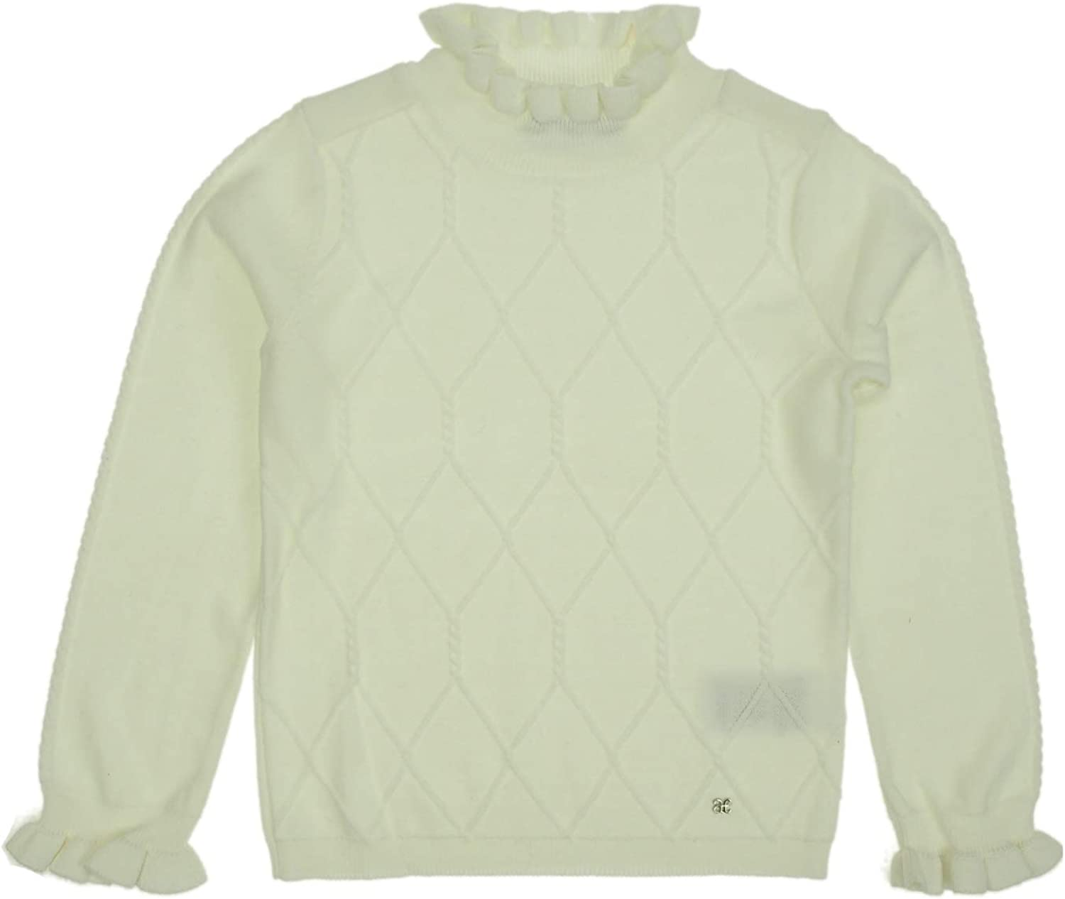 Abel & Lula - Knit Sweater for Girls - 5805, Off White