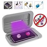 Esterilizador UV para teléfono móvil, esterilizador de doble UV, mini caja de...