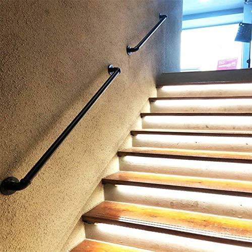 Treppengeländer Geländer Treppengeländer Satz, Schmiedeeisen Rohr Geländer, Korridor Unterstützung Bar, Lofts Decking Geländer, ältere Kindersicherheitsgeländer (Size : 120cm)