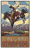 Northwest Art Mall Calgary Stampede Bucking Horse Cowboy