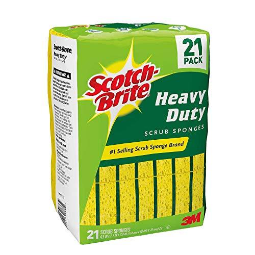 Scotch-Brite Heavy Duty Scrub Sponge, 21 Sponges Total