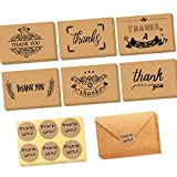 36 Pack Brown Kraftpapier Dankeskarten Danke U...