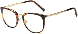 Aiweijia Men and Women's Vintage Optical Glasses Solid Color Printed Metal Round Full Frame Eyeglasses For Small Face