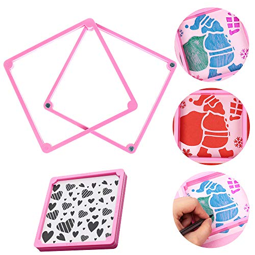 4 Pcs Packed Windows Grids Cookie Cake Stencil Decorate Mould Surround Edge Tool