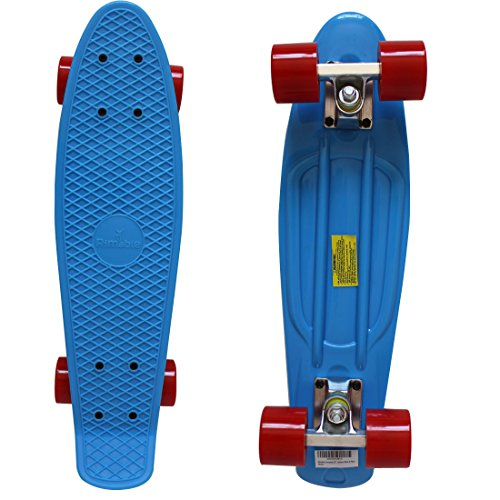 RIMABLE Complete 22  Skateboard (Blue & Red)