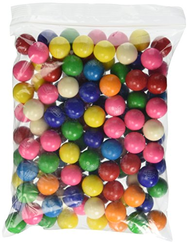 Dubble Bubble Assorted 24mm Gumballs 1 Inch, 2 Pounds Approximately 110 Gum Balls.