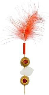 "Fuzzy Wuzzy Feather Skewer, Feather Pick - 6"", Natural - 500ct Box Restaurantware"