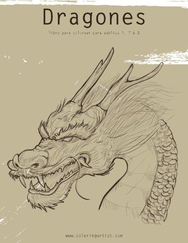 Dragones libro para colorear para adultos 1, 2 & 3