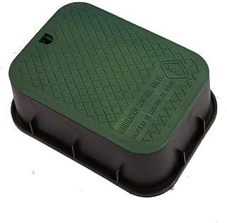 DURA 15 in. x 21 in. x 6 in. Deep Extension Valve Box in Black Body Green Lid