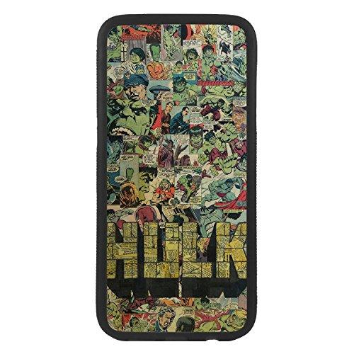 afrostore Funda Carcasa de móvil para Apple iPhone 6 Comic increible Hulk TPU Borde Negro