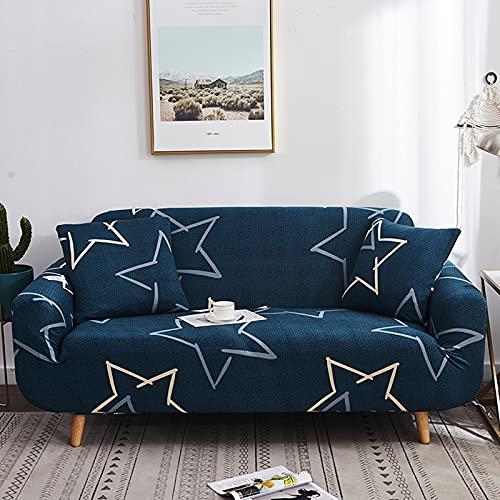 ASCV Elastiskt sofföverdrag för vardagsrum sofföverdrag överdrag soffa puff säte heminredning hörn soffa montering soffa överdrag A1 4-sits