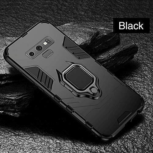 SFJUL telefoonhoesje Armor Case Voor Samsung Galaxy A8 J4 J6 2018 J4 J6 Plus Prime Note A7 2018 A750 Stand Schokbestendige Vinger Ring Shell, For Samsung J6 Prime, Zwart