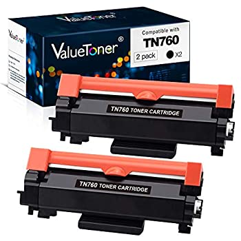Valuetoner Compatible Toner Cartridge Replacement for Brother TN760 TN-760 TN730 TN-730 High Yield for HL-L2350DW DCP-L2550DW HL-L2395DW Hl-L2390DW HL-L2370DW Printer  2 Black