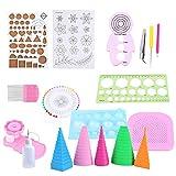 Herramienta de Quilling de papel, Paper Quilling Kit Set de tiras de papel para Quilling con tallado pinzas regla Er Creaciones artesanales