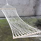 OKBOP Protable Double Hammock Swing with Spreader Bar, Quilted Fabric Bed, Camping Hammocks Sleeping...