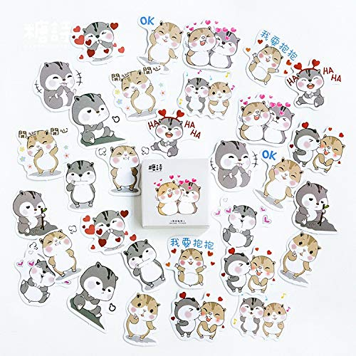 45 Pcs/pack Cute Kawaii Chipmunk Mini Paper Sticker Decoration Diy Album Scrapbooking Journals Daily Planners DIY Seal Sticker