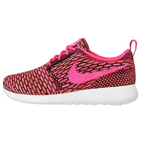 Nike Roshe One Flyknit - zapatillas para correr de mujer., Rosado (Black/Pink Pow-white-total Orange), 6 B(M) US