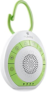 myBaby Soundspa On‐the‐Go, Plays 4 Soothing Sounds, Adjustable Volume Control, Adjustable Clip for Strollers, Diaper Bags,...