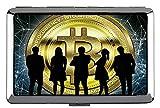 Cigarette Case Box, Money Bitcoin Coin Metal Pocket Business Card Case