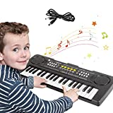 sanlinkee Kinder Klavier Piano,Digital Piano 37 Tasten Keyboard mit USB-Kabel Multifunktions Musik Klaviertastatur Für Kinder Geschenk ideal für 3-8 Jahre Mädchen Jungen