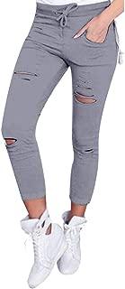Realdo Women's Skinny Ripped Pants, 2018 Waist Stretch Slim Pencil Trousers