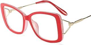 0fe0e75183 UICICI Gafas de Lentes Transparentes cuadradas Retro para Mujer, Marco  Ultra Ligero (Color :