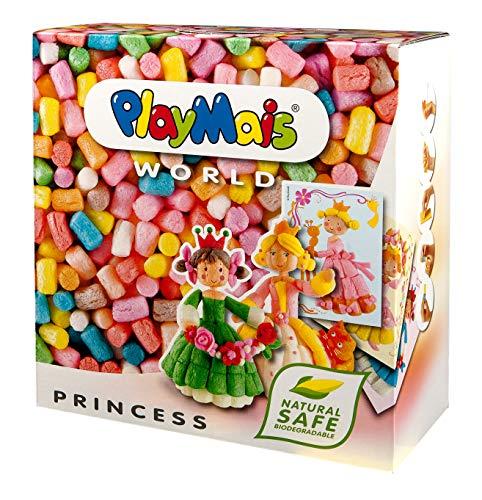 PlayMais World Princess Jeu de Construction pour Enfants à partir de 3 Ans   1000 pièces, modèles et Mode d'emploi   stimule la créativité et la motricité   Cadeau pour Filles et garçons
