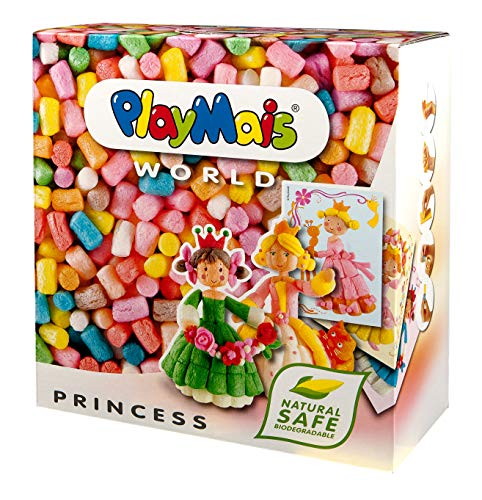 PlayMais World Princess Bastel-Set für Kinder ab 3 Jahren   Circa 1000 PlayMais, Vorlagen & Anleitungen zum Basteln   Geschenke für Kinder   Fördert Kreativität & Feinmotorik   Natürliches Spielzeug