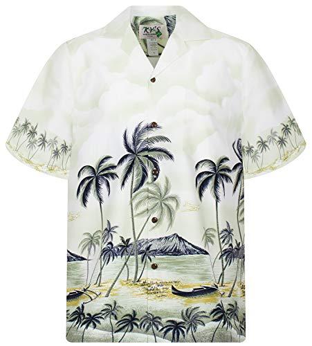 KY's Original Hawaiihemd, Palmbeach, grün, XL