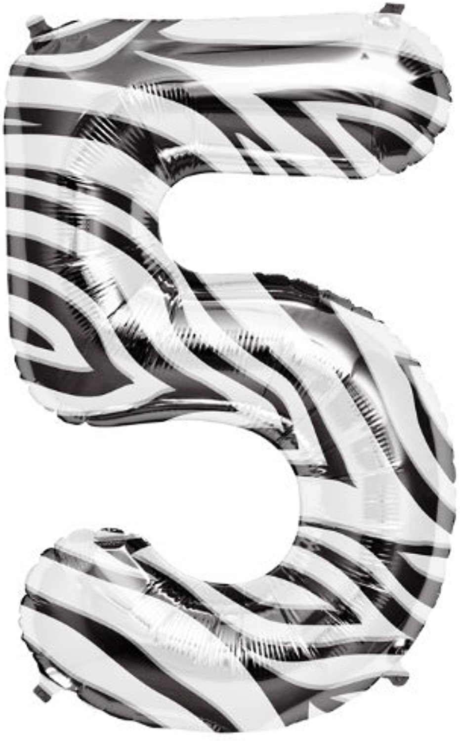 Zebra Pattern Number 5 Foil Balloon by North Star