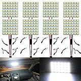 Paquet de 8 Blanc 450Lums 5050 36-SMD 12V DC LED pour Voiture Remorque Camper RV éclairage Intérieur Panneau...