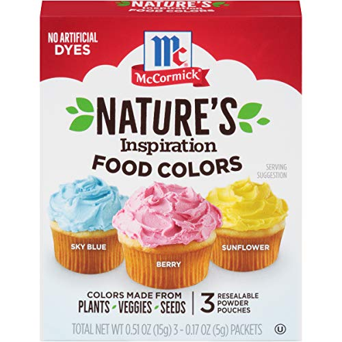 McCormick TRTAZI11A Nature's Inspiration Food Colors, 0.51 Oz