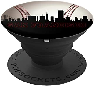The City Bay Area Baseball Fan San Francisco Skyline Art SF - PopSockets Grip and Stand for Phones and Tablets