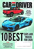 CAR AND DRIVER Magazine (January, 2020), 10 BEST CARS AND TRUCKS FOR 2020, Porsche 911 vs Mercedes-AMG GT