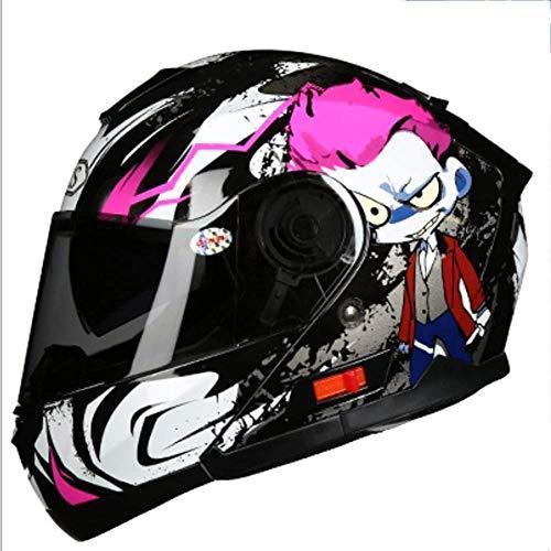 ZHXH Casco integral para motocicleta, casco modular para adultos Four Seasons para hombres y mujeres para adultos, en línea con la certificación Dot y los estándares Ece